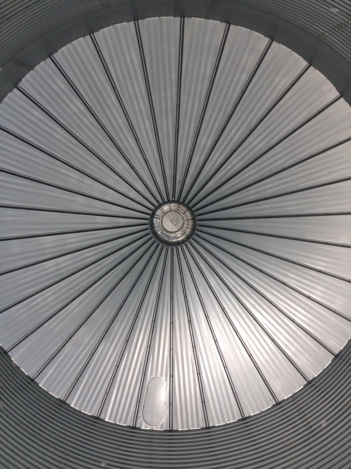 The ceiling of the Psylo. When finished, this will be the home of one of our liquid light shows.