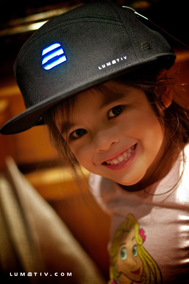 Kids LOVE LUMATIV!  Guess we're going to have to make a kids sized hat... Help us reach our goal so we can!