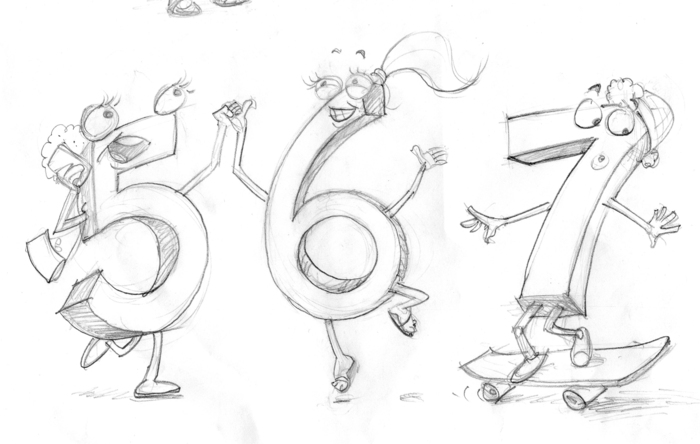 Feebie Five, Suzzie Six and Sid Seven