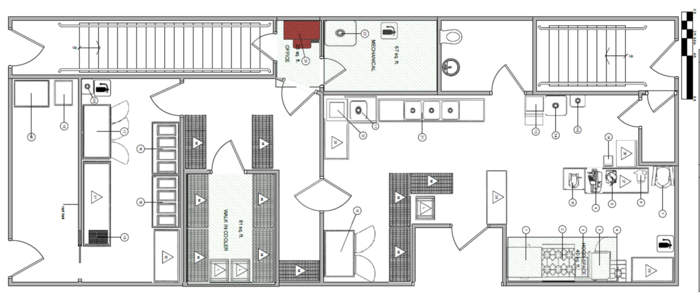 The floorplan for Dia De Los Tamales & Get Off The Couch Catering