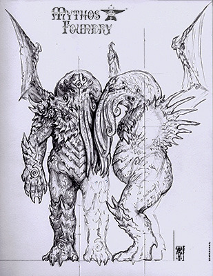 Cthulhu Model Sheet