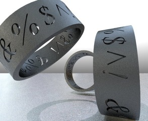 Black 3D Print Bracelet