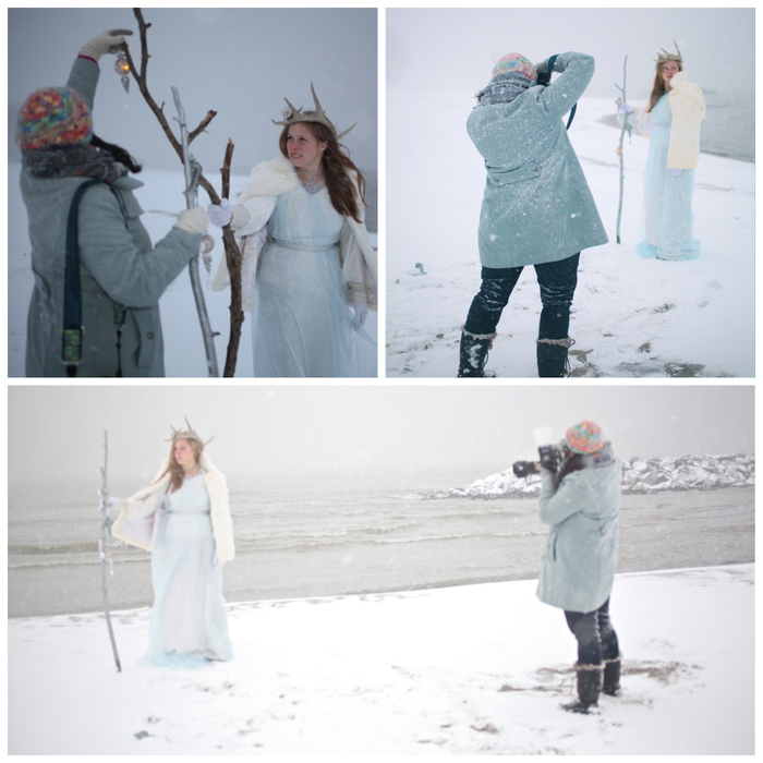 Here are a few images shot behind the scenes while I worked. Taken on Lake Erie Beach.