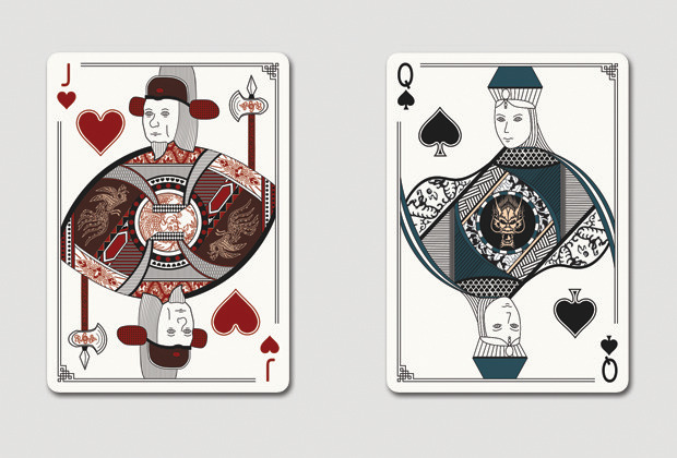 Mock up of Jack of Hearts & Queen of Spades