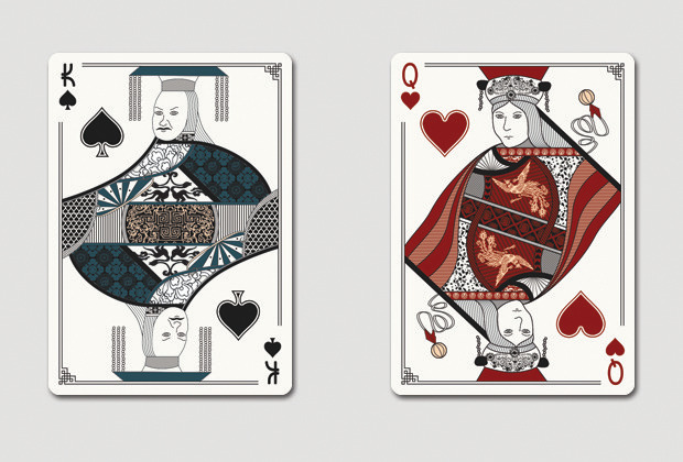 Mock up of King of Spades & Queen of Hearts