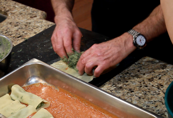 Uncle Gerald Making Manicotti