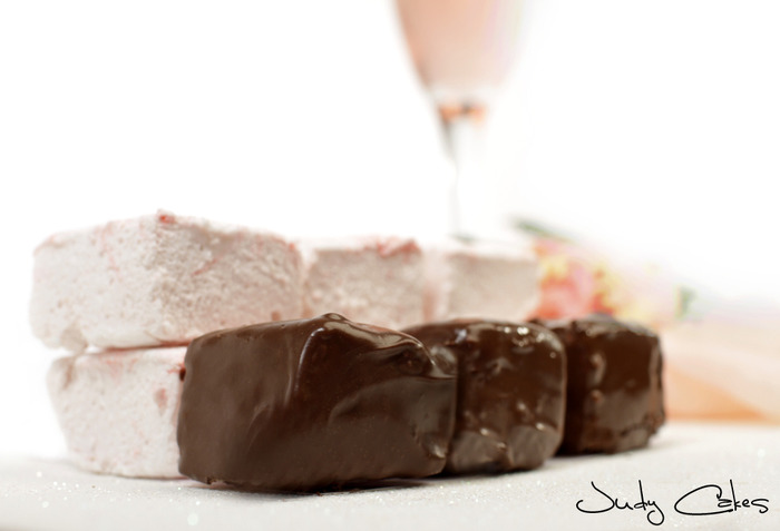 Champagne Chocolate Strawberry Covered Mallows