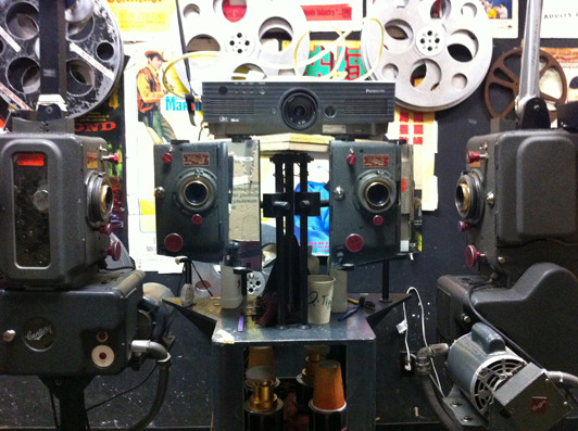 Our rare, rear-screen 35mm projector