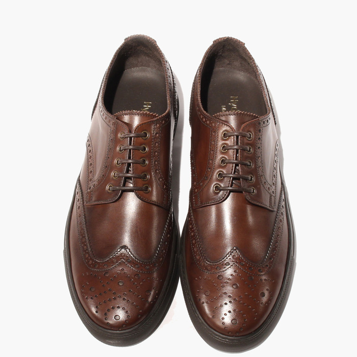Boron: a brogue style, made comfier.  The leather develops a patina over time