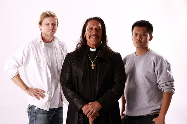 Left to Right: Kevin King, Danny Trejo, Chris Le