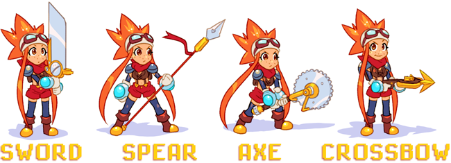 The Butcherknife will provide balanced gameplay, while the Javelink adds concentrated precision to your attacks. The Pizzaxe is a power-heavy weapon, and the Megadart yields range to your combat.