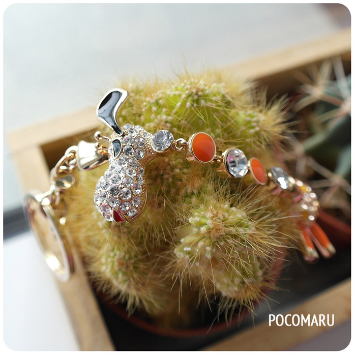 Take a closer look for our crystal iLong Bag Charm
