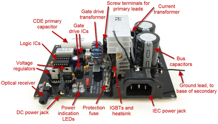 Main control board with components