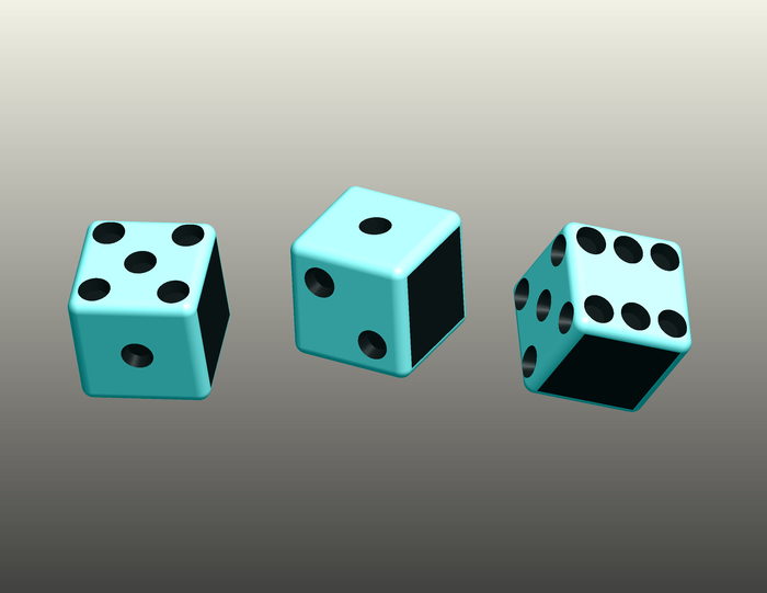 THREE BLIND DICE