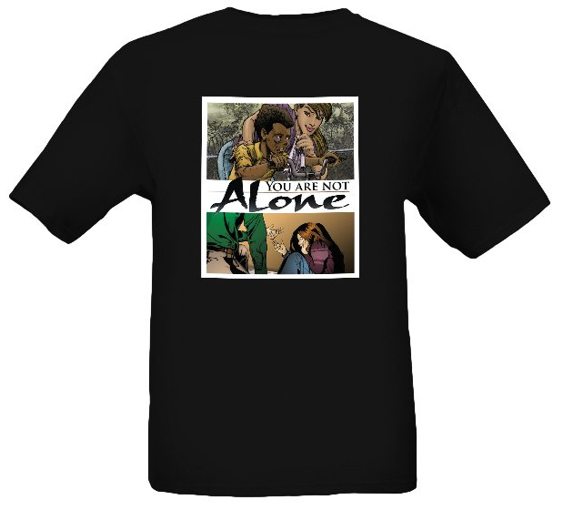 YOU ARE NOT ALONE COVER T-SHIRT