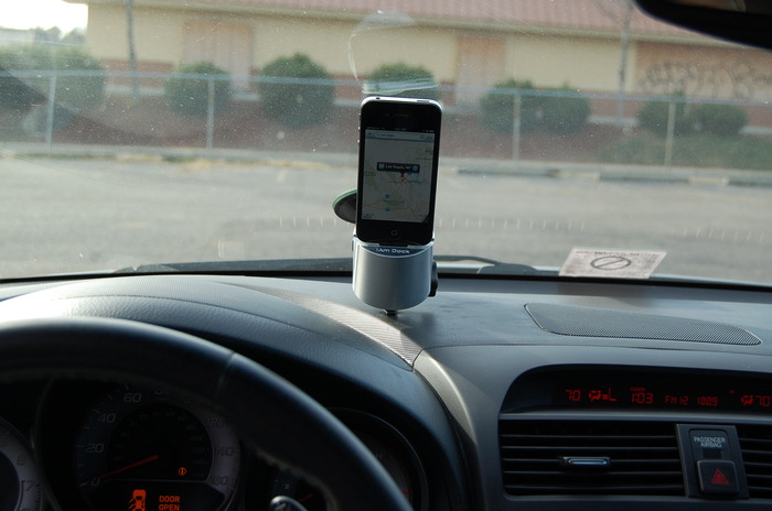 iAm Dock can be threaded onto a suction mount  as well allowing you to use your iPhone as GPS!