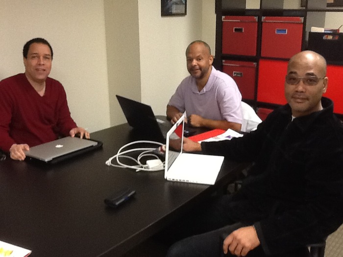 Part of the writing team - Clark Davis, Andre Morgan and Ken Wood