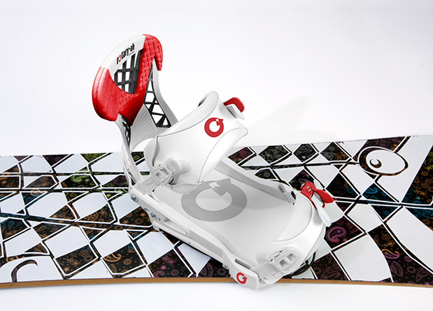 Rotary-Ah Rotative Binding for Snowboarding