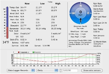 Web accessible weather station