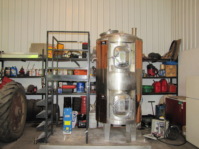 The used brew kettle