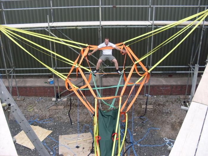 Tensioned webbing strap framework