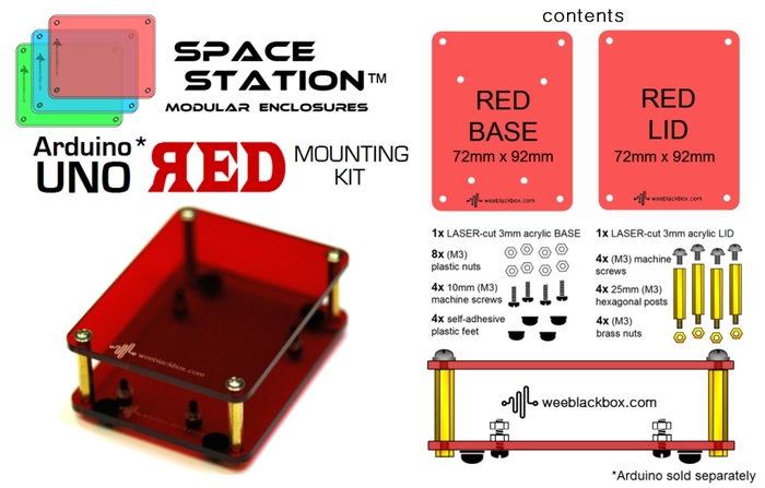 """RED UNO"" SpaceStation Kit."