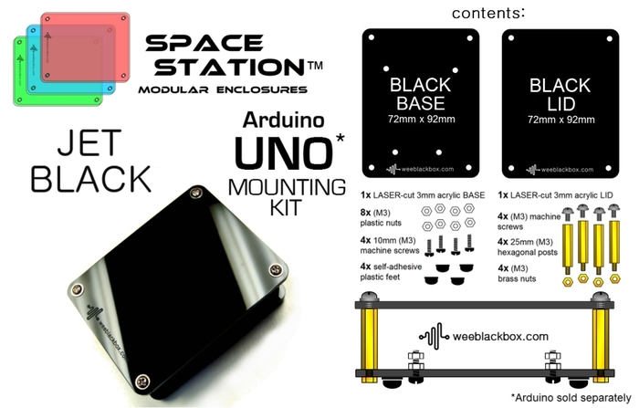 """JET BLACK UNO"" SpaceStation Kit"