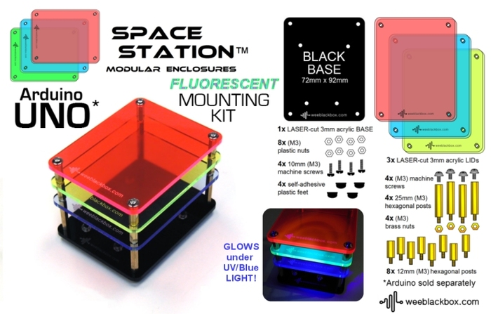 """FLUORESCENT UNO"" SpaceStation Kit."