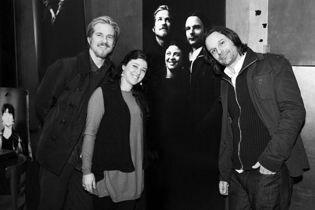 Berlinale 2012 International Short Film Jury in front of their IMAGOGRAMM (©Ali Ghandtschi)