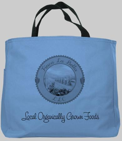 Custom made Finca La Bella tote bag...