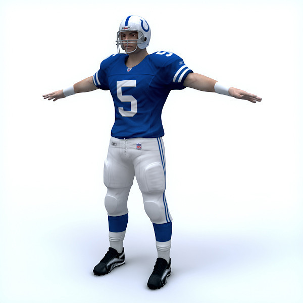 High Resolution Player Models (Note: this is a sample: no NFL teams will be used in this game).