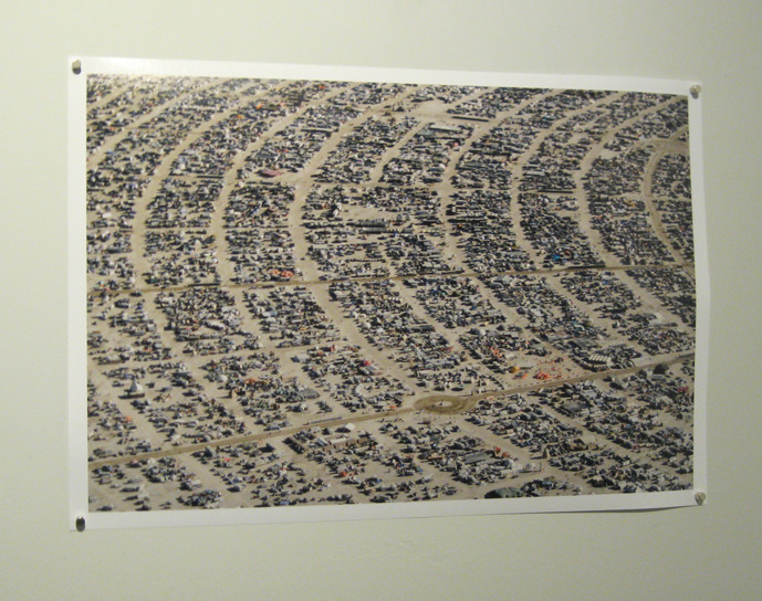 Arial image of Burning Man by photographer and Associate Dean of MICA Alex Heilner