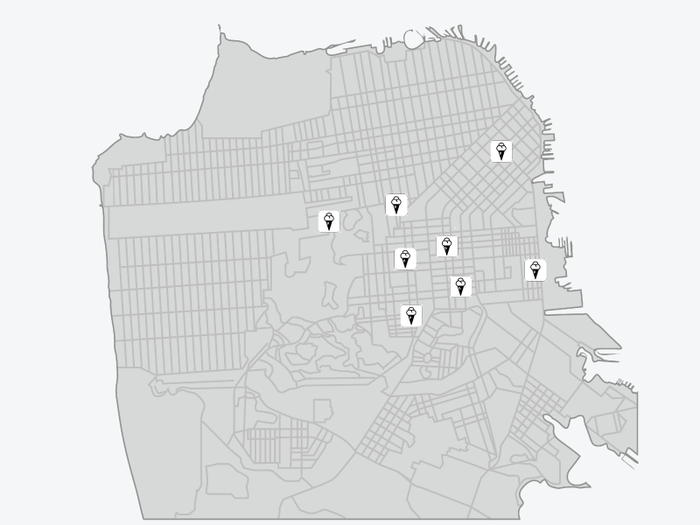 San Francisco map of ice cream shops [Draft]