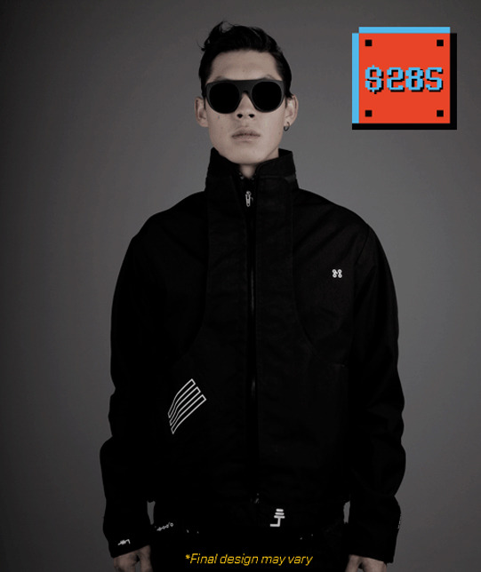 Early Bird. Only 100 at this price. The Midi Controller Jacket. Own one of the first Wearable Machines. Make music, perform, buy it because you think it's cool, program it to work with other devices. You're the boss.