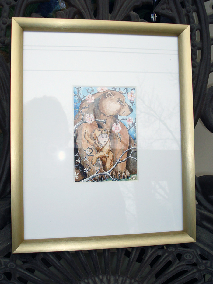 Empress original art reward framed