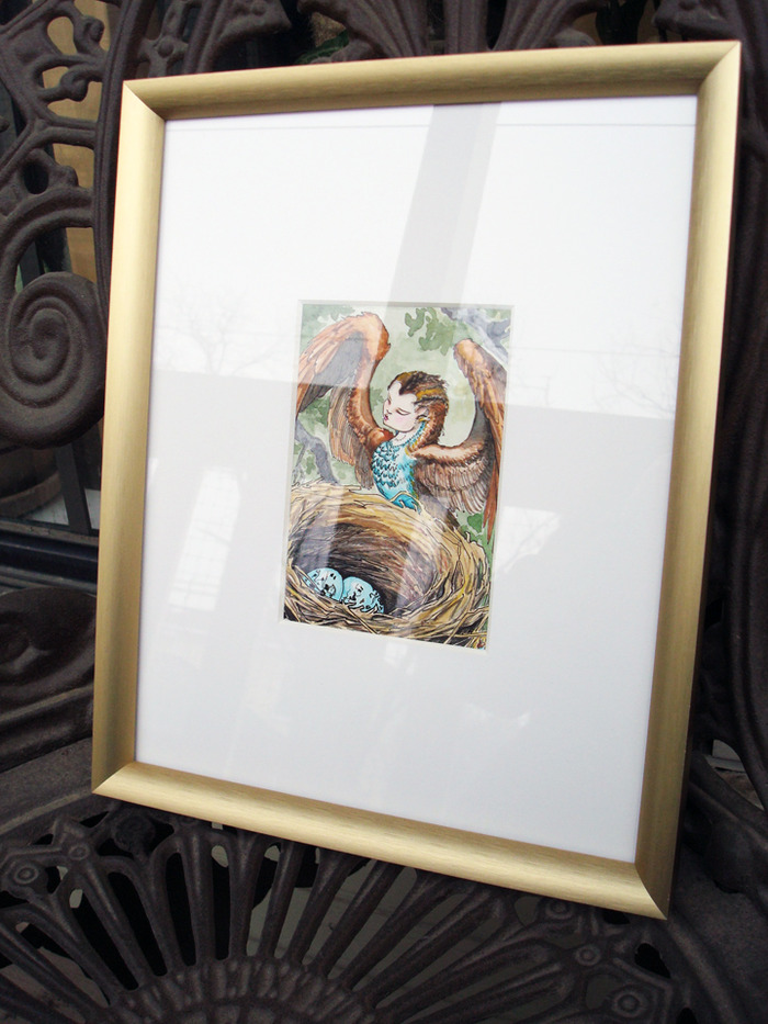 High Priestess framed original art reward