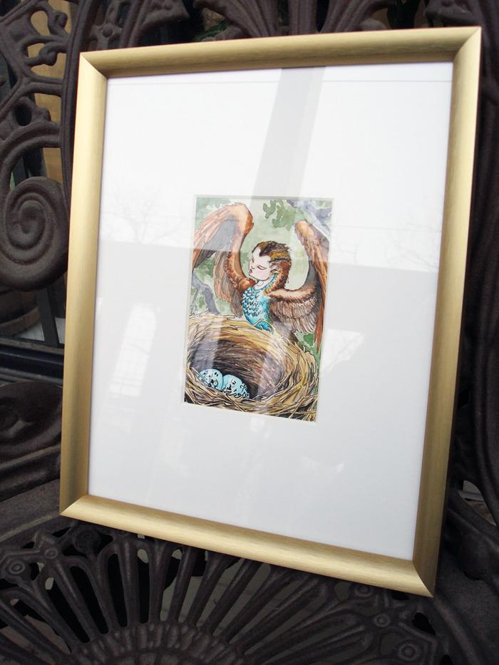 High Priestess framed original art reward