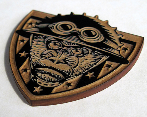 Here's a gorgeous pin designed by my friend Chet with Chet Art - The Stolen Child design will be equally lovely!