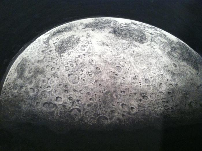 "Close up view of ""Half Moon"" (2013)."