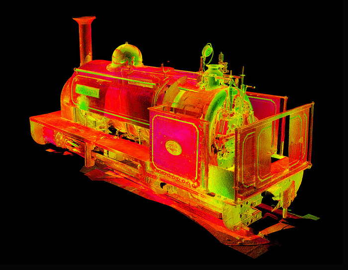 Point cloud visualisation of Winifred.