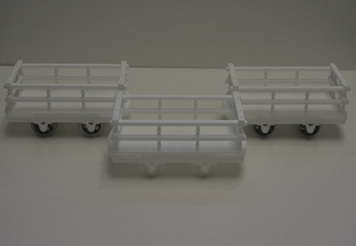 Wagon kits showing how we've created them to use our own wheels and also those of existing manufacturers.