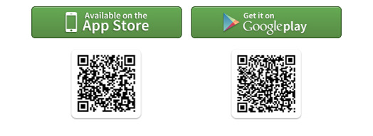 Scan the QR codes to download