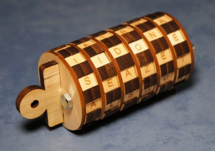 A handcrafted cryptex with the key inside