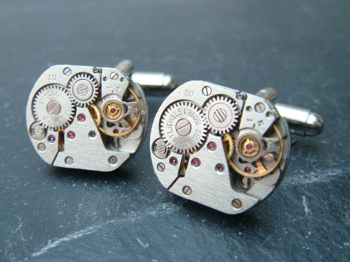 Type B watch movement cufflinks