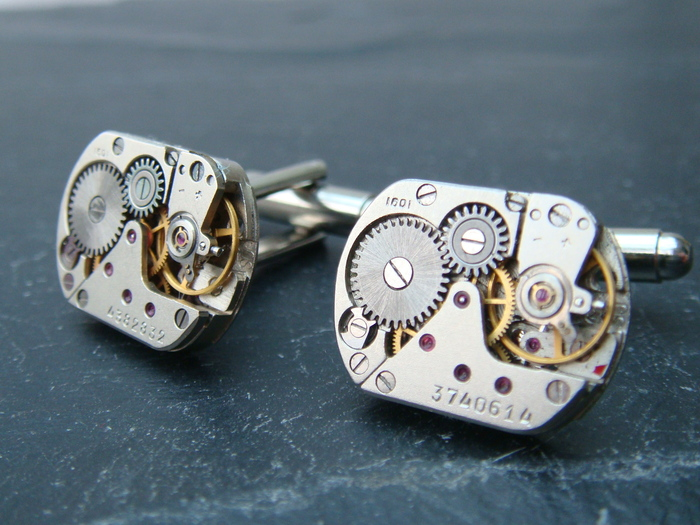 Type C Watch movement cufflinks