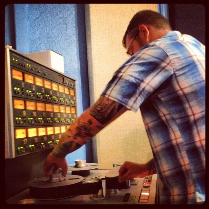 Jamey Rogers getting the tape machine ready for one of my recording sessions at the Jam Room- Columbia, SC