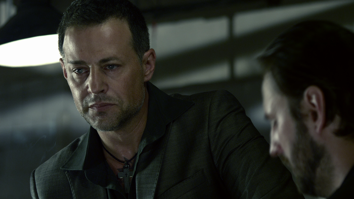 "Louis Mandylor in ""One in the Chamber"". Copyright Anchor Bay"