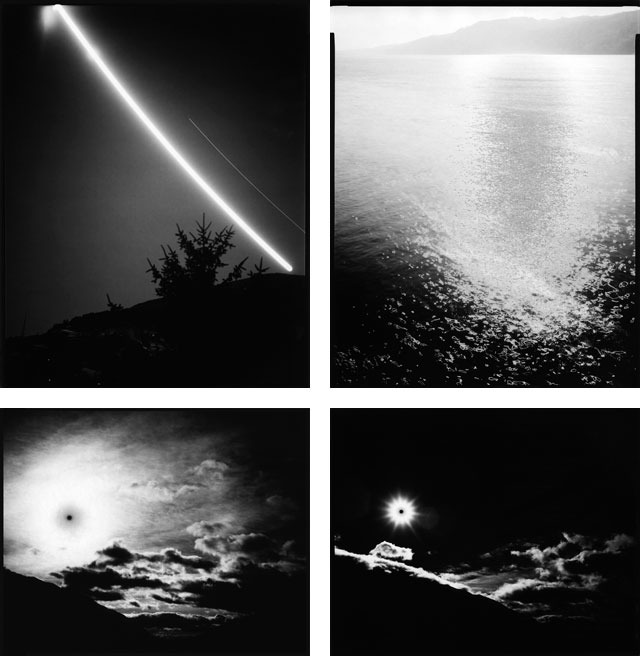 """Traces of light"" (1st row: I & II, 2nd row: III & IV) in 40x50cm (16x20inch) by Annegret Kohlmayer"