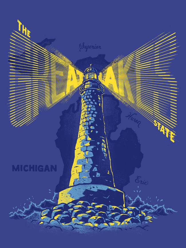 The Great Lakes State - Michigan