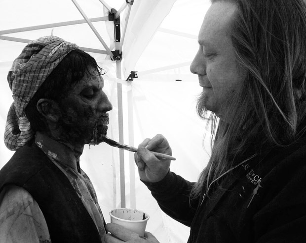 Chris Hanson working on a zombie
